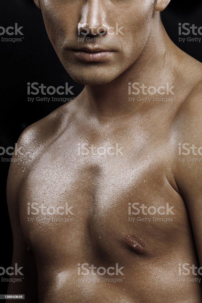 close-up of man's body royalty-free stock photo