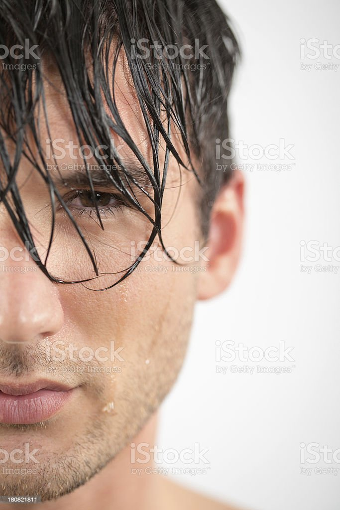 Close-up of man's face royalty-free stock photo