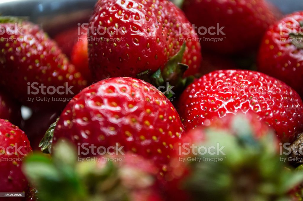 Close-up of Many Red Strawberries royalty-free stock photo