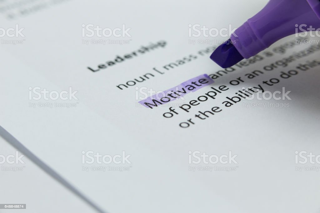 Close-up of marker pen highlighting text stock photo