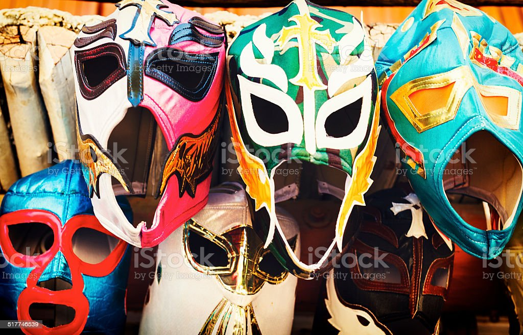 Close-up of masks stock photo