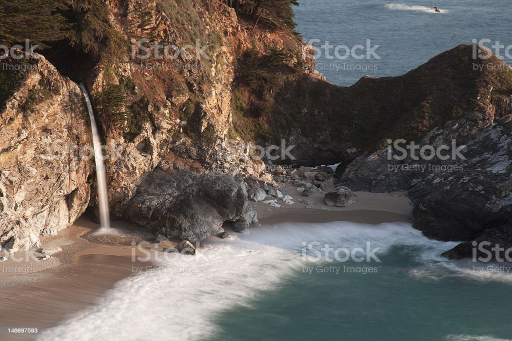 Closeup of McWay Falls stock photo
