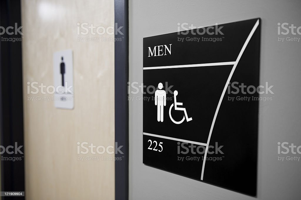 Close-up of Men's restroom sign royalty-free stock photo