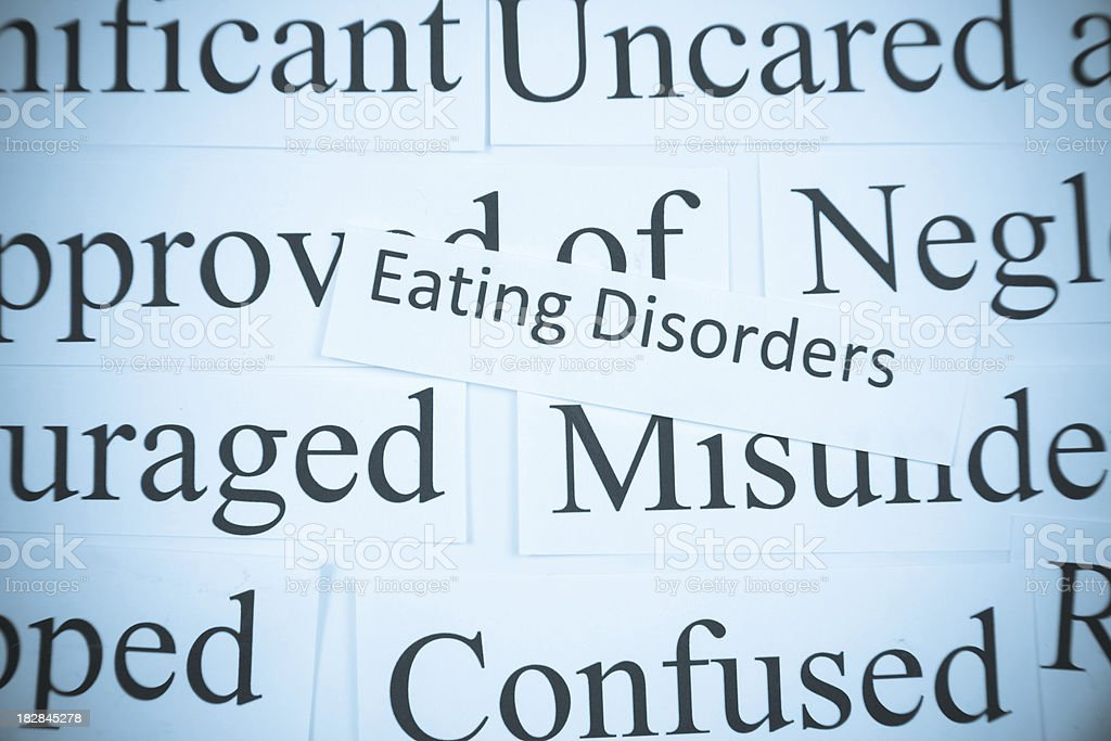 Close-up of mental health words stock photo