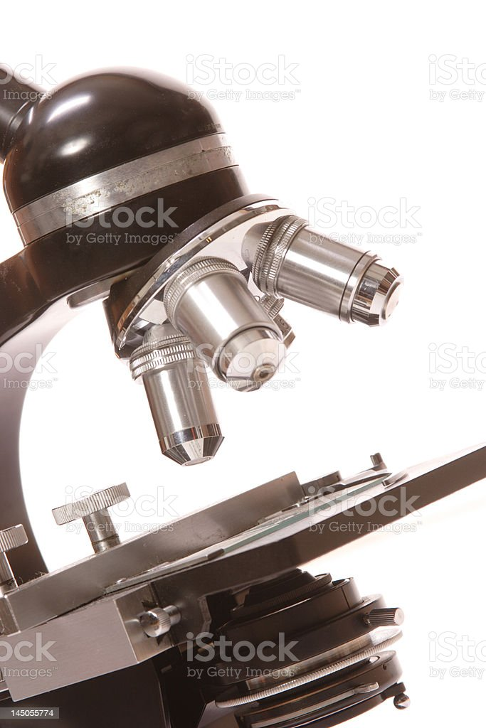 Close-up of microscope royalty-free stock photo