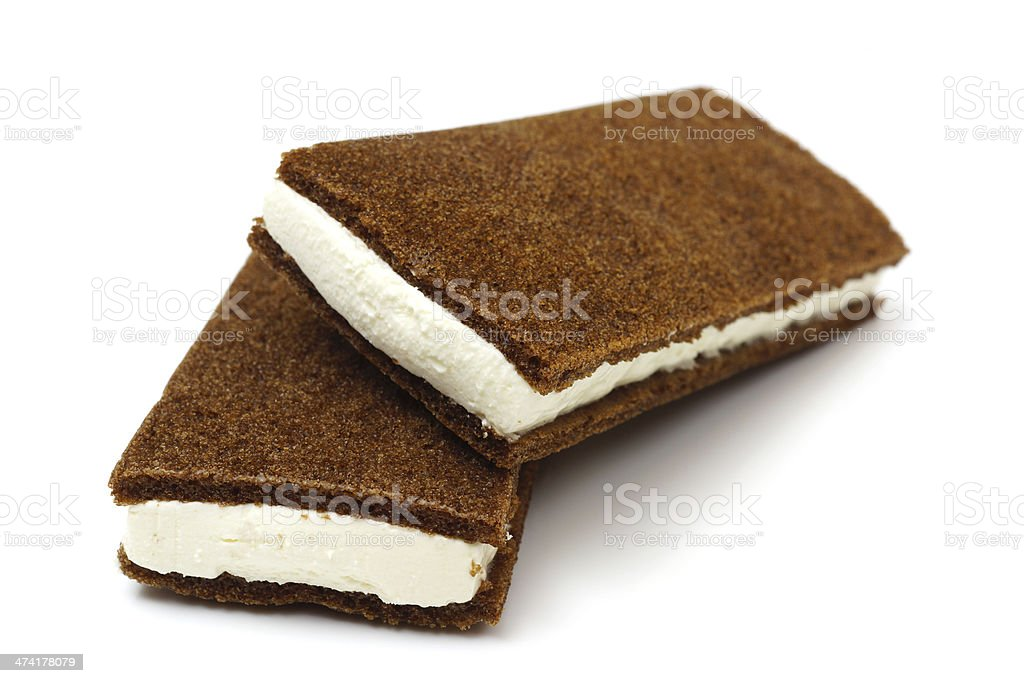 Closeup of milk chocolate bar isolated on white stock photo