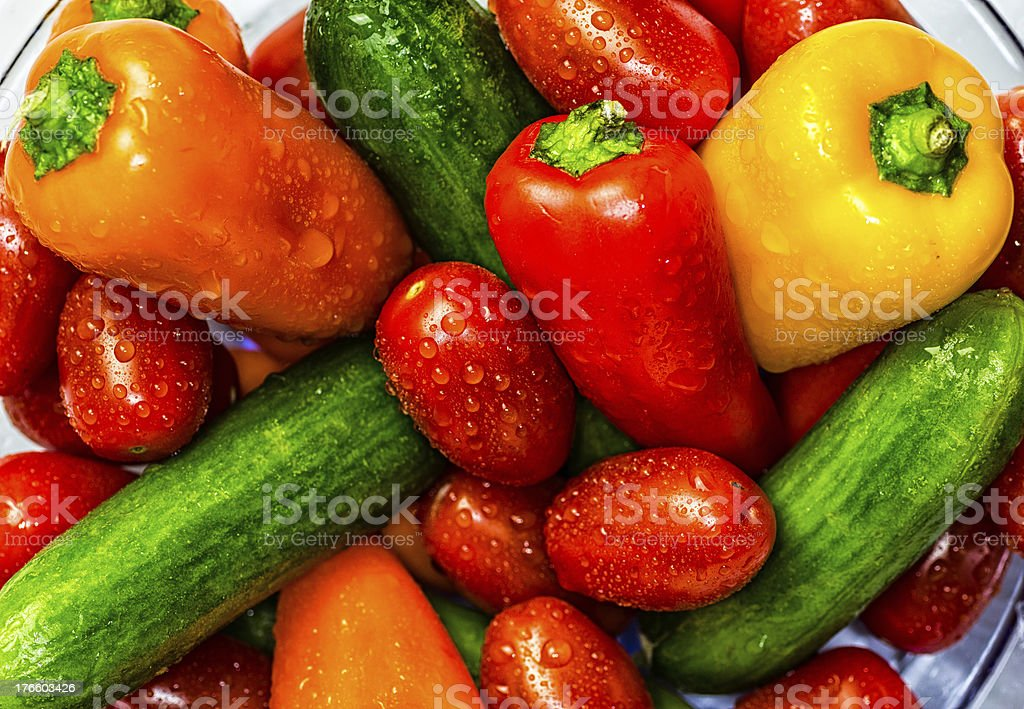 Closeup of Mixed Vegetables stock photo