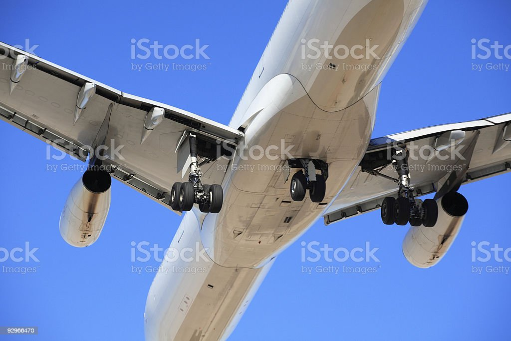 Close-up of modern airplane royalty-free stock photo
