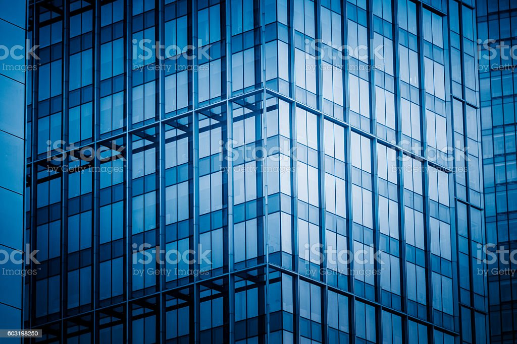 Close-Up Of Modern Office Buildings stock photo