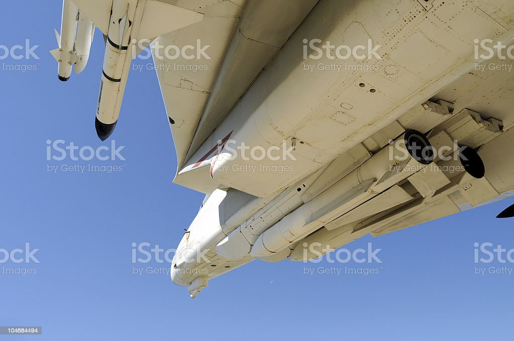 Closeup of Navy fighter flying royalty-free stock photo