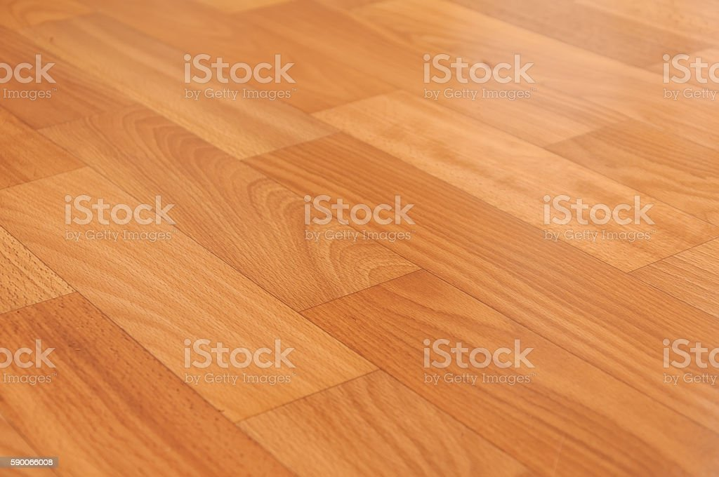Close-up of new linoleum with parquet pattern, background stock photo