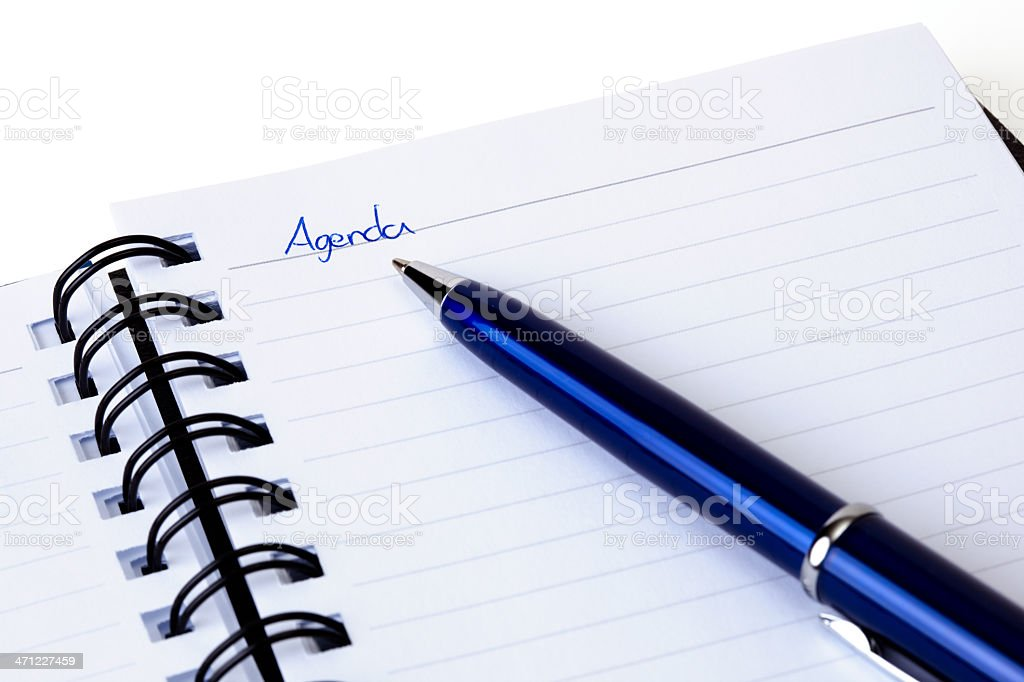 Closeup of note book page  and pen. royalty-free stock photo