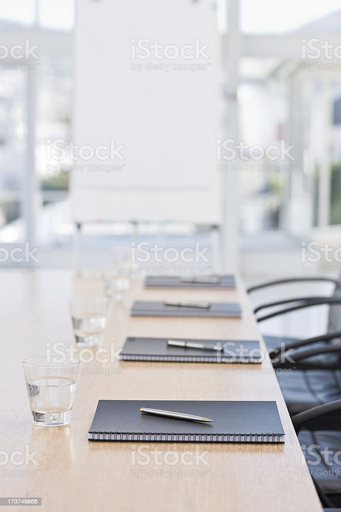 Closeup of notepads kept on table royalty-free stock photo