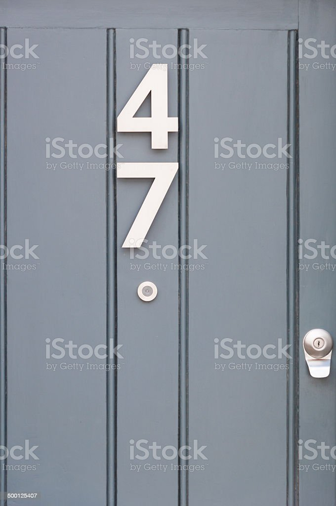 Close-up of number 47 stock photo