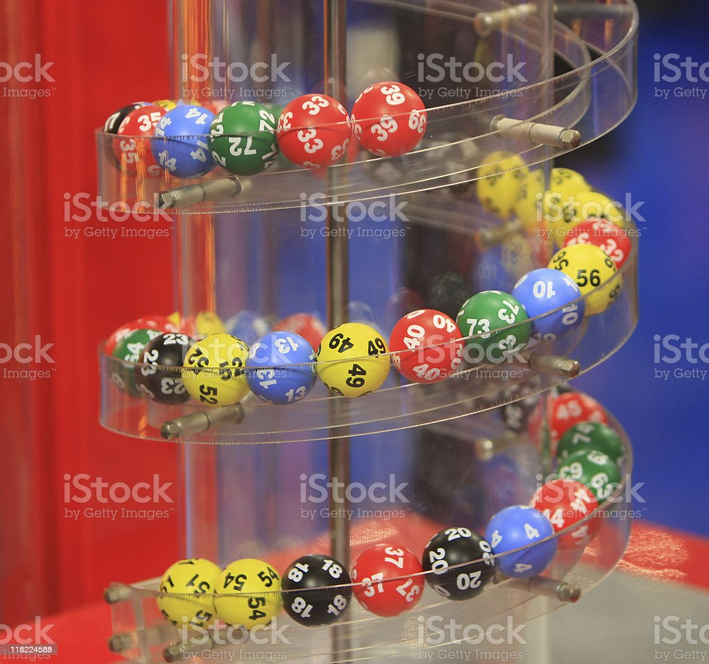 Close-up of numbers to be called out for a game royalty-free stock photo