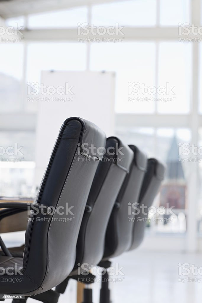 Closeup of office chairs royalty-free stock photo