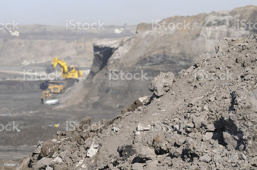 Closeup of oil sands stock photo