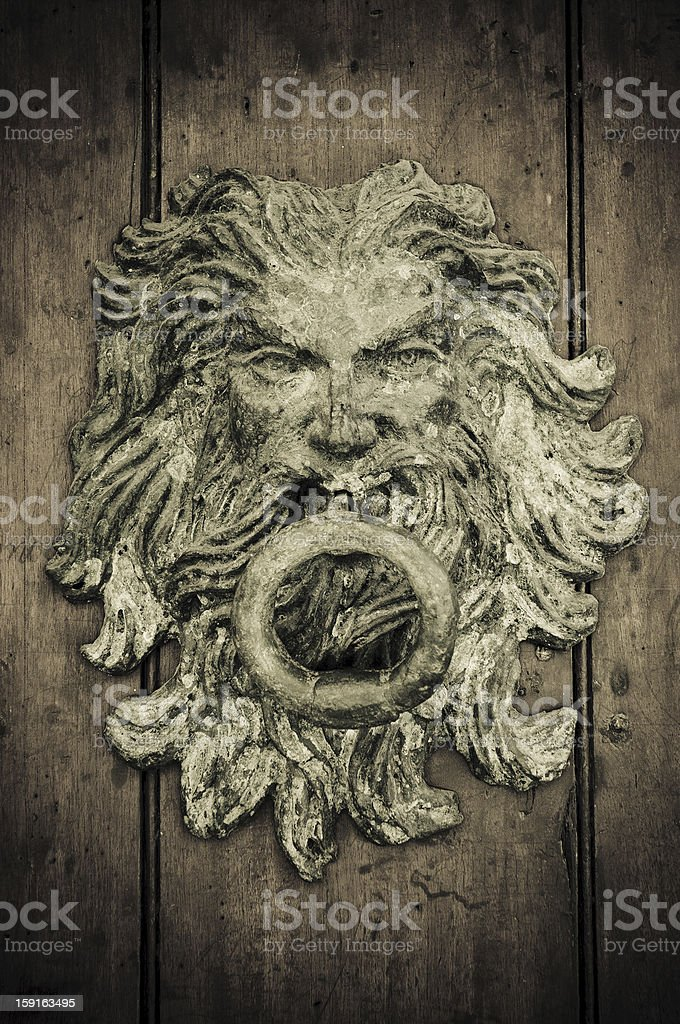 Close-up of old doors Cartagena, Colombia royalty-free stock photo