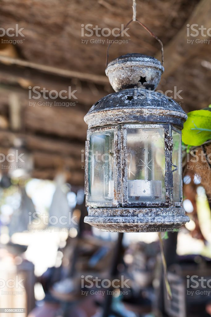 Close-up of old lantern stock photo
