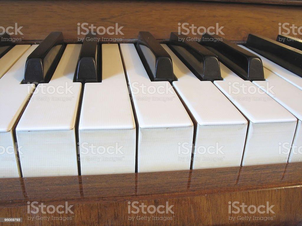 close-up do teclado de piano foto de stock royalty-free
