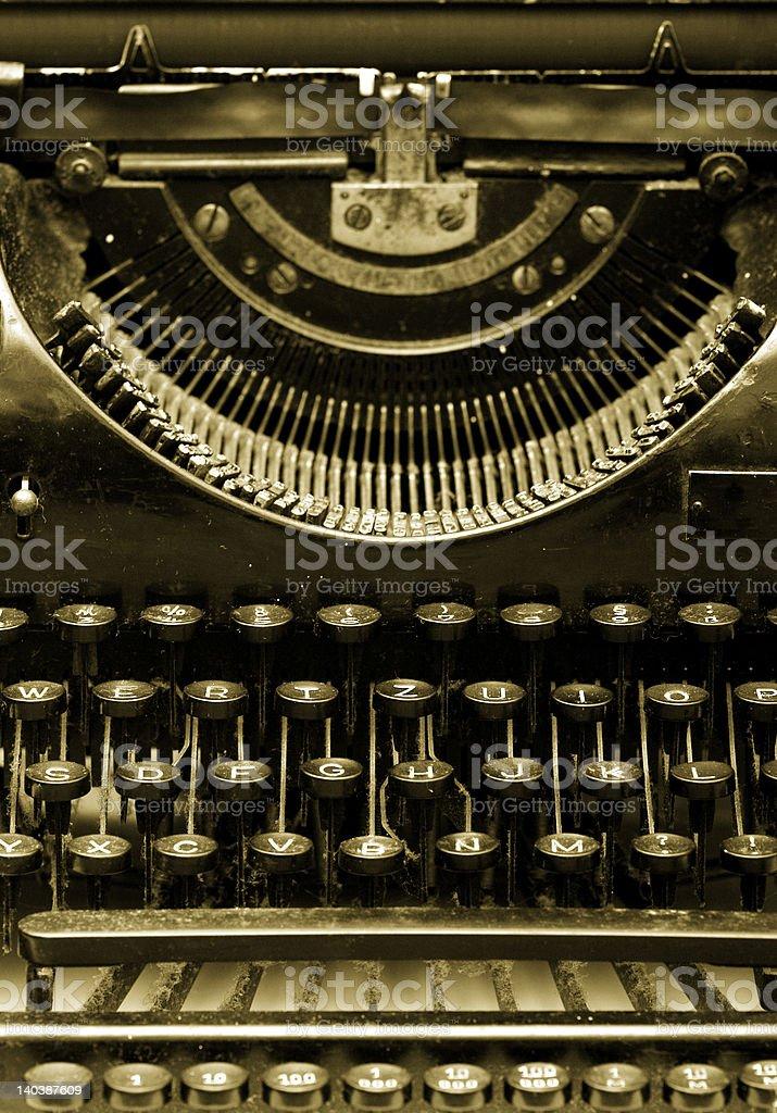 closeup of old typewriter royalty-free stock photo