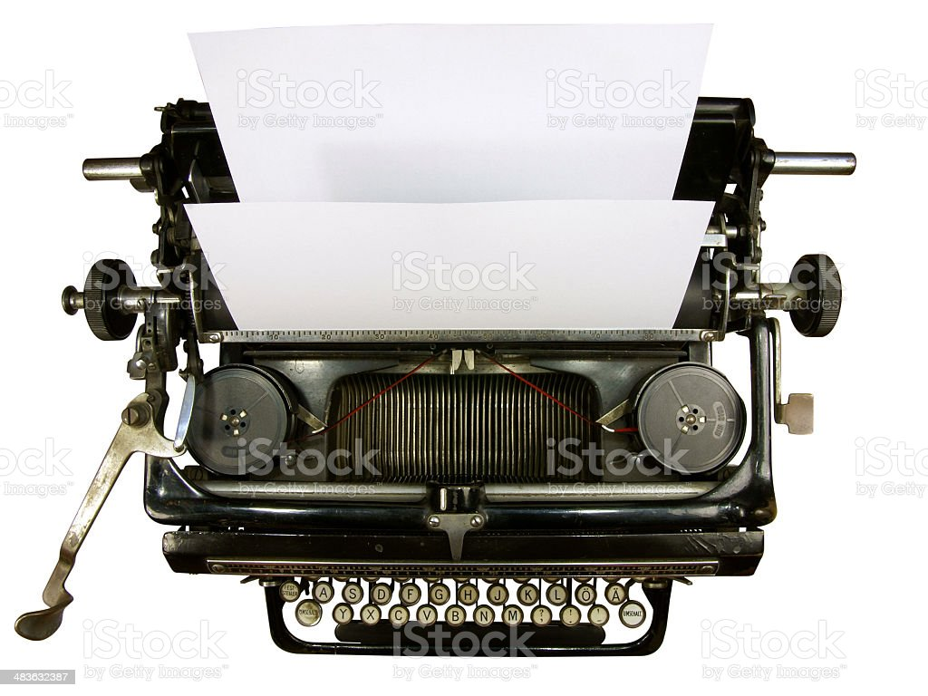 closeup of old typewriter royalty-free stock photo
