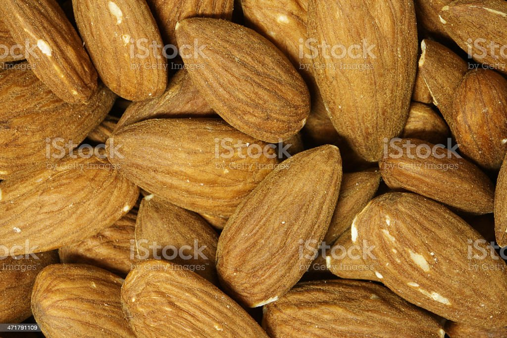 Close-up of organic Almonds royalty-free stock photo