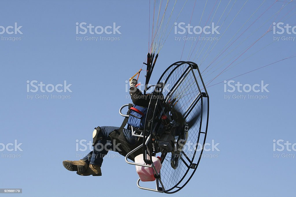 Closeup of Paraglider royalty-free stock photo