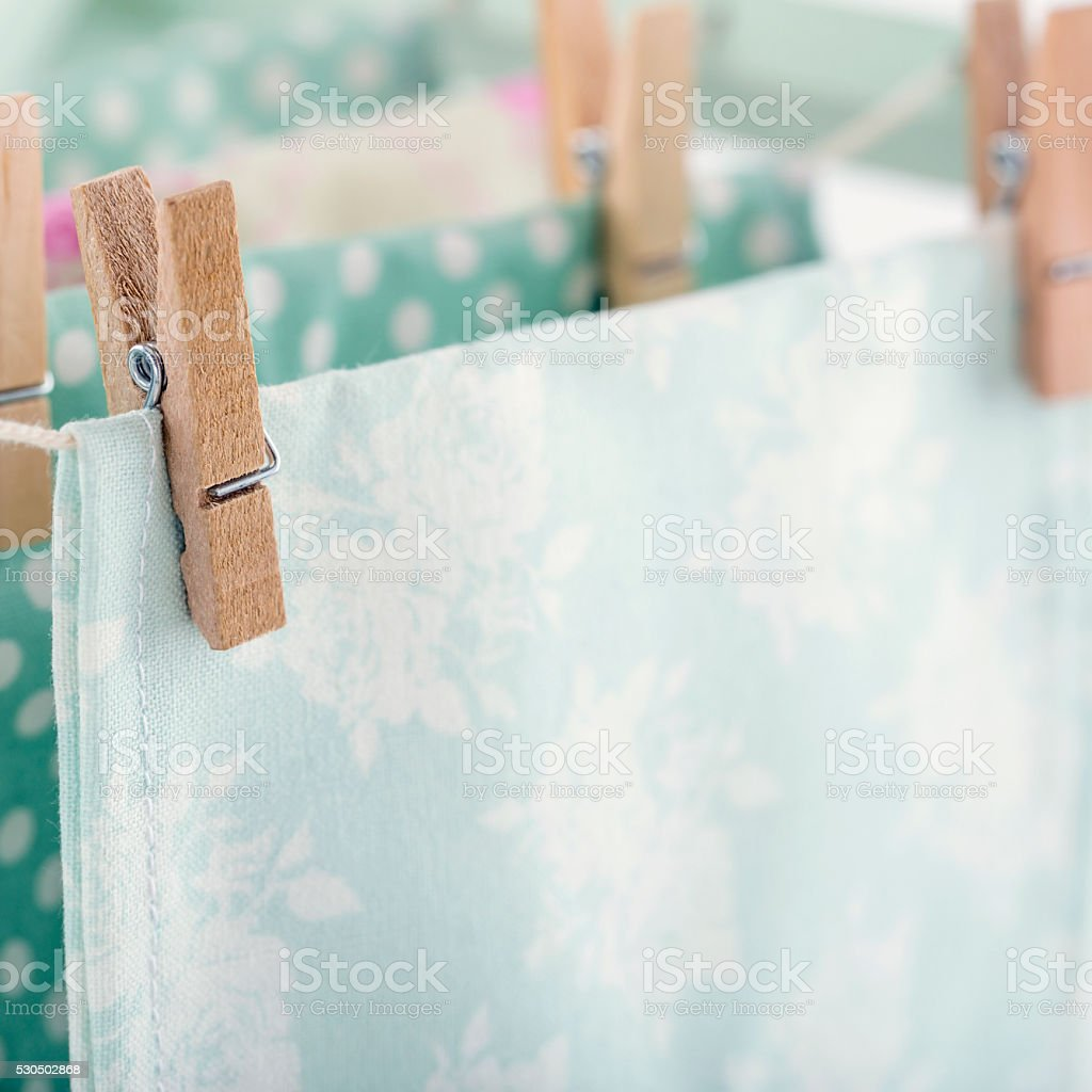 Closeup of pastel color laundry2 stock photo