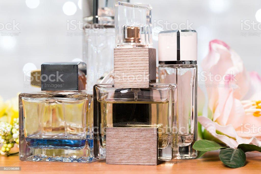 closeup of perfume bottle stock photo