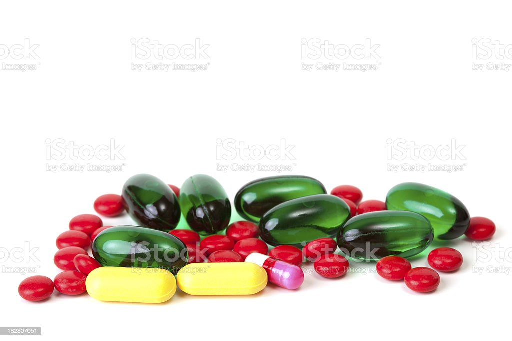 Closeup of pills royalty-free stock photo
