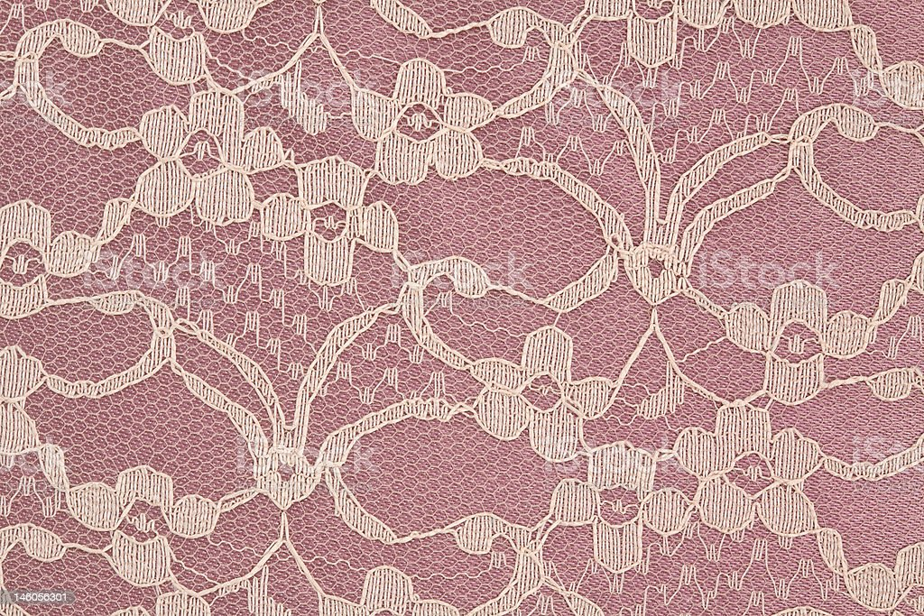 Closeup of Pink and Cream Lace royalty-free stock photo