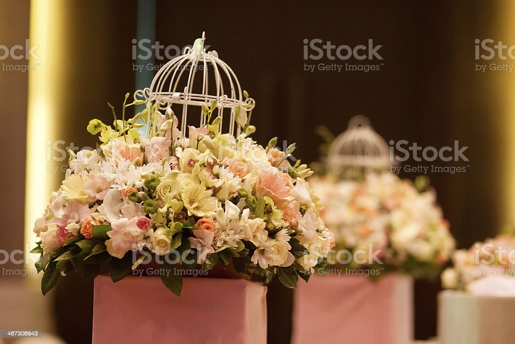 Close-up of pink and white flowers for a special occasion stock photo