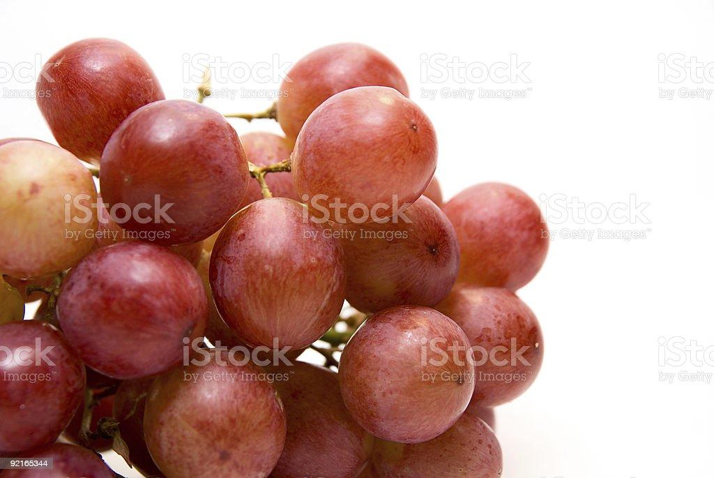 Gros plan de la grappe de raisin rose photo libre de droits