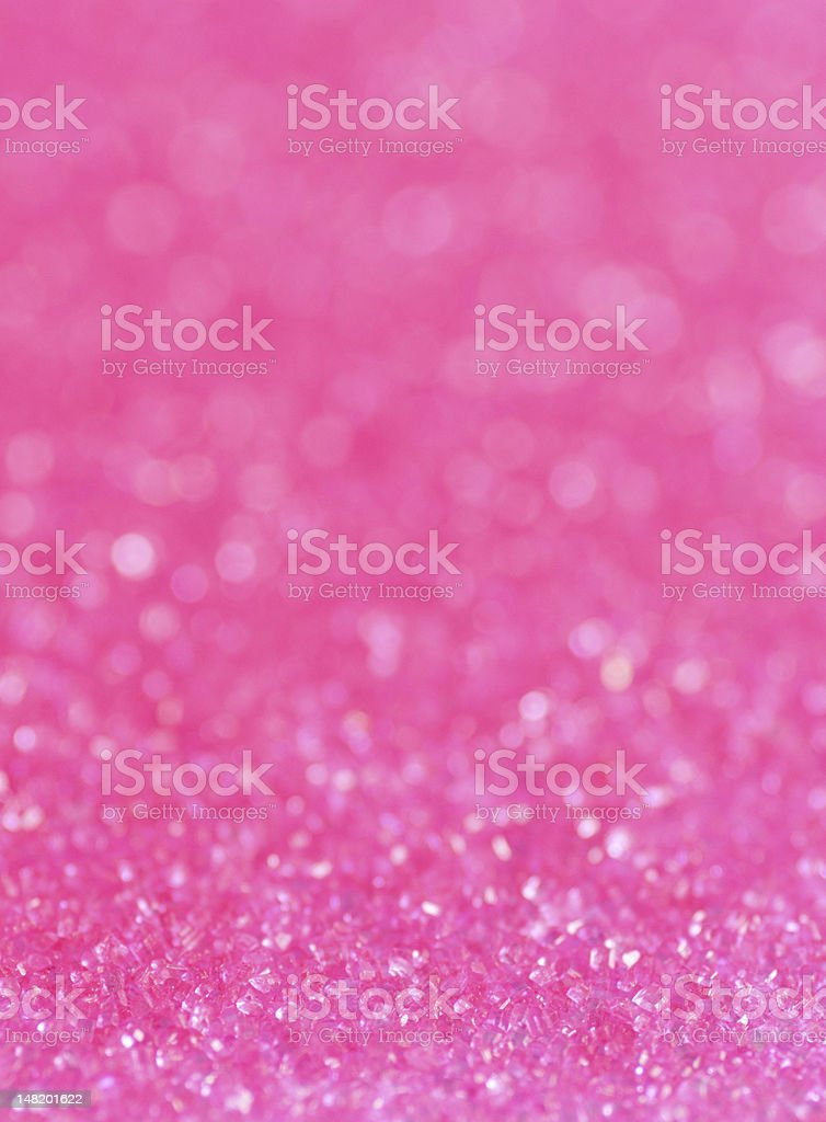 Close-up of pink sugar sparkles stock photo