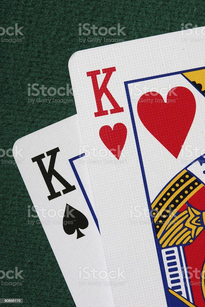 Close-up of pocket kings royalty-free stock photo