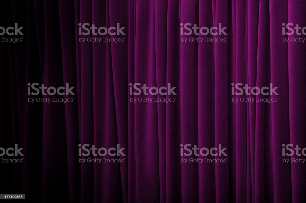 Close-up of purple curtain in various tones stock photo