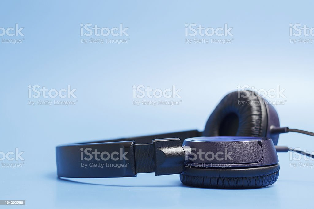 Close-up of quality plastic headphones royalty-free stock photo