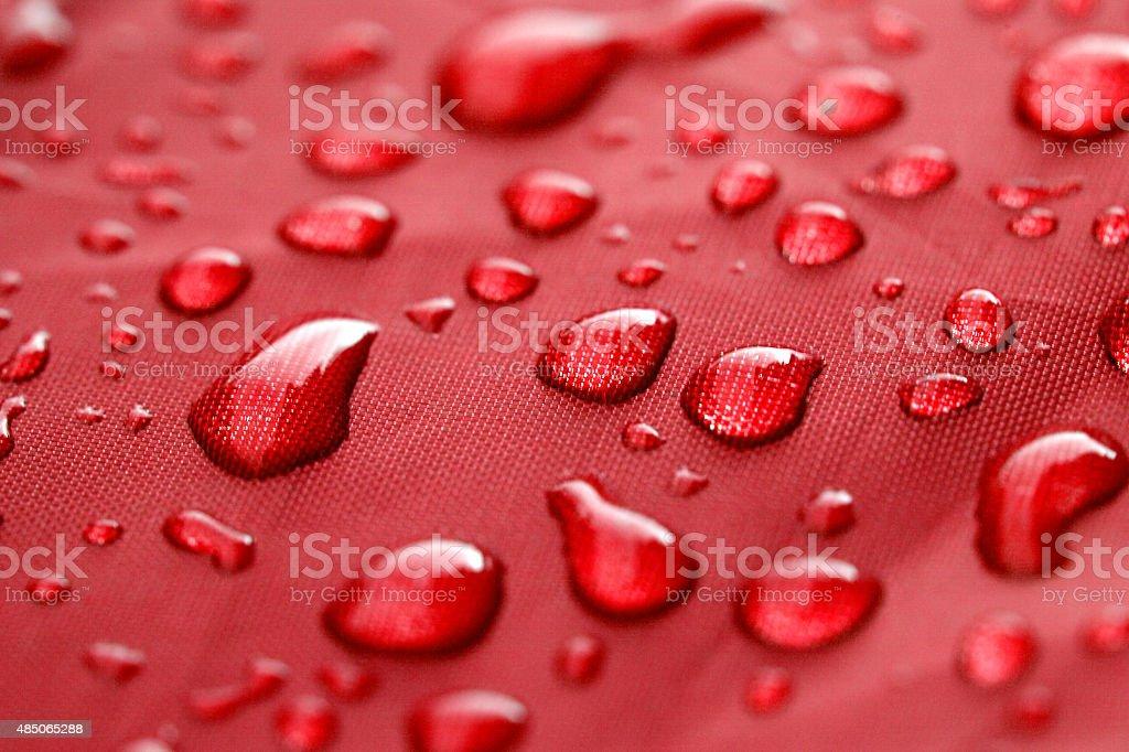 Closeup of rain drops stock photo