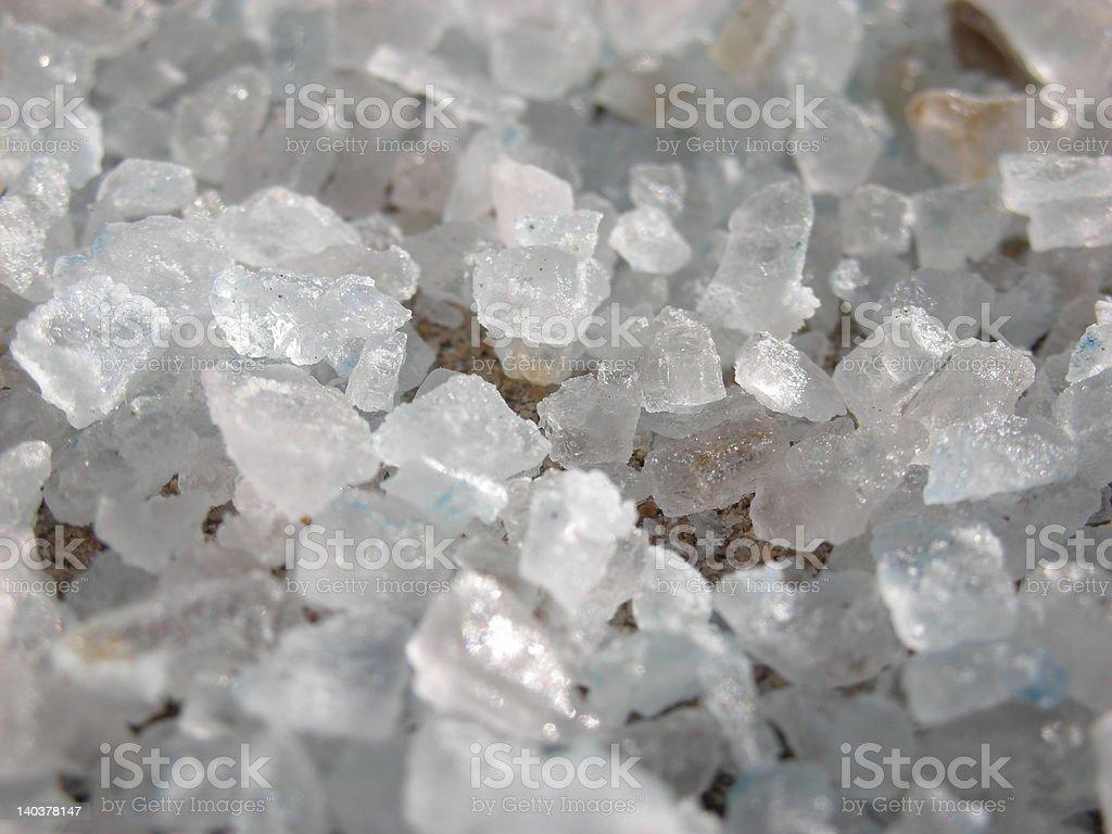 Closeup of raw salt crystals royalty-free stock photo