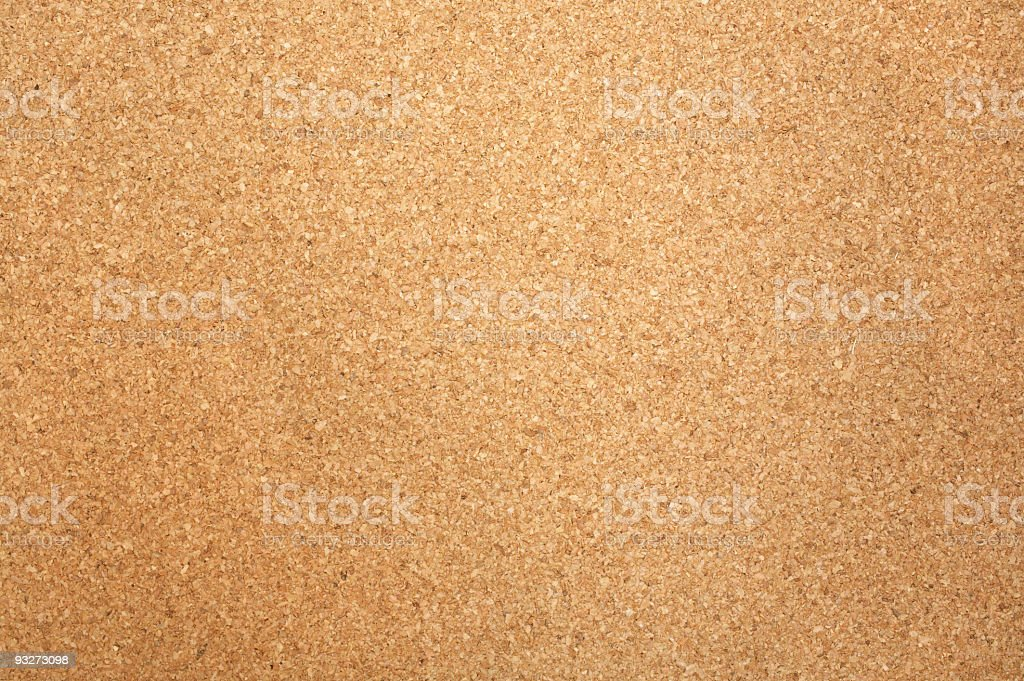 Close-up of rectangular corkboard texture stock photo
