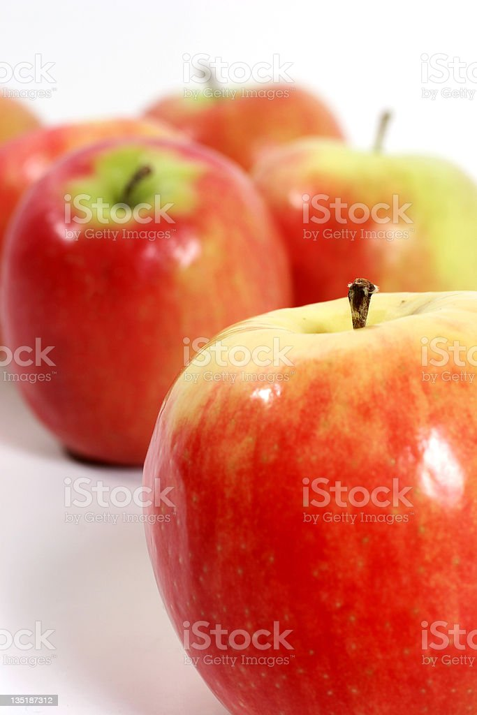 Close-up of red, ripe Gala apples. Fresh, healthy fruit. royalty-free stock photo