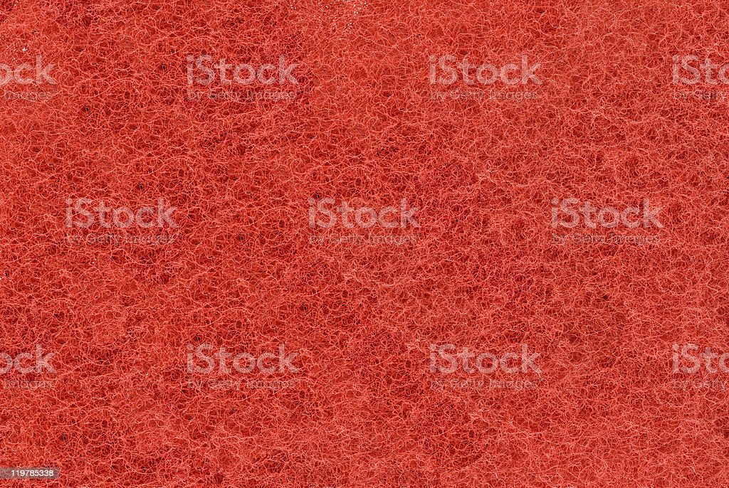 Close-up of Red synthetic fibrous surface stock photo