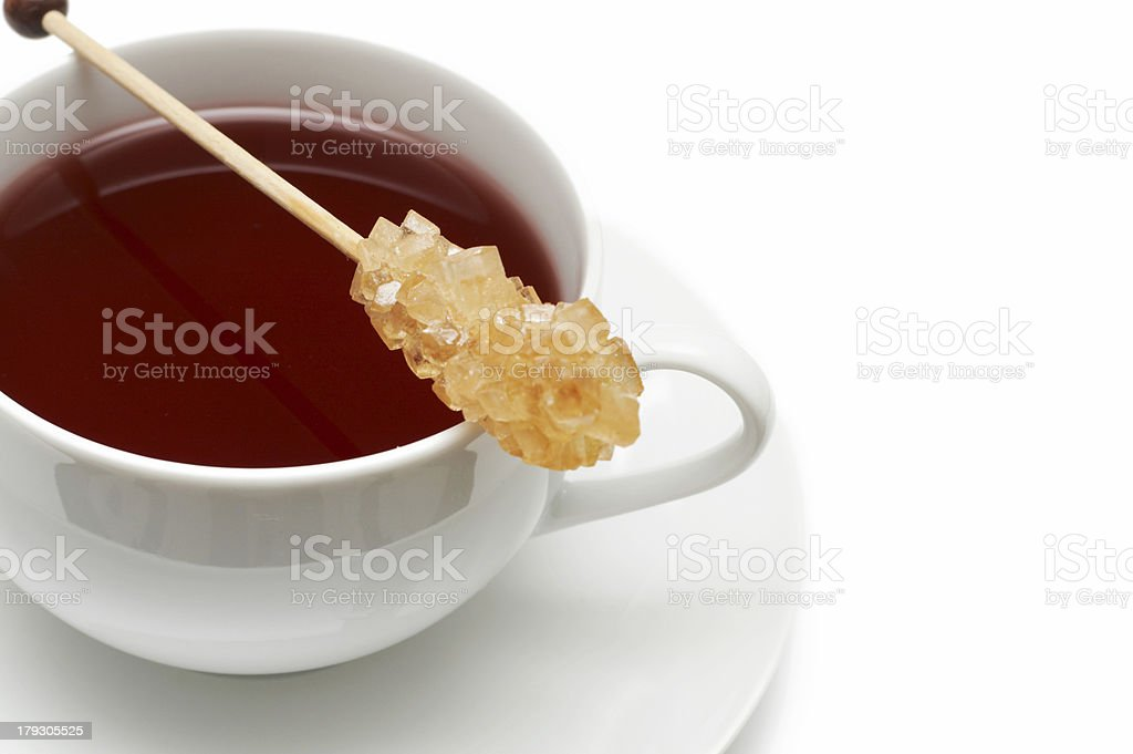 Closeup of red tea with sugar royalty-free stock photo