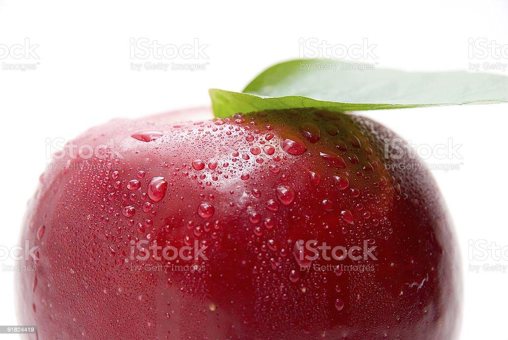 Gros plan de mûres fraîches pomme rouge photo libre de droits