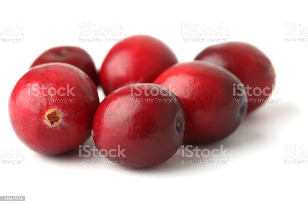 Close-up of ripe red cranberries royalty-free stock photo