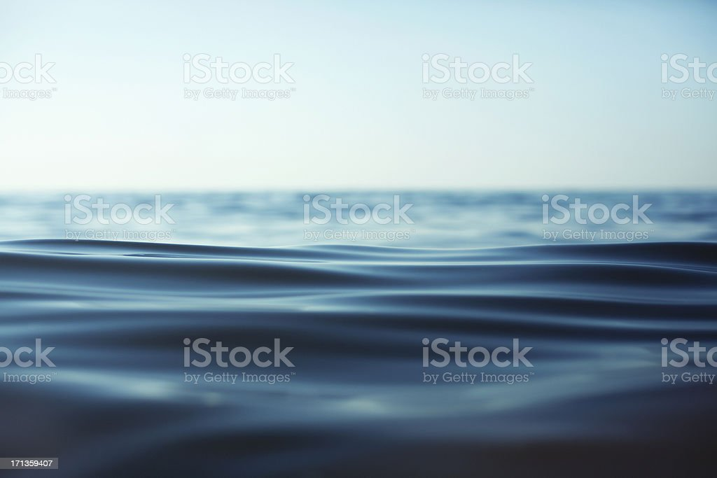 Close-up of rippling water surface against sky stock photo