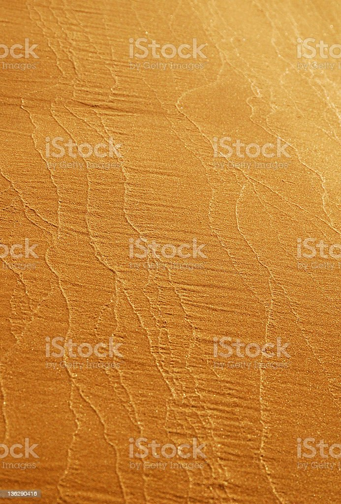 Close-up of river sand with vertical tracery. stock photo