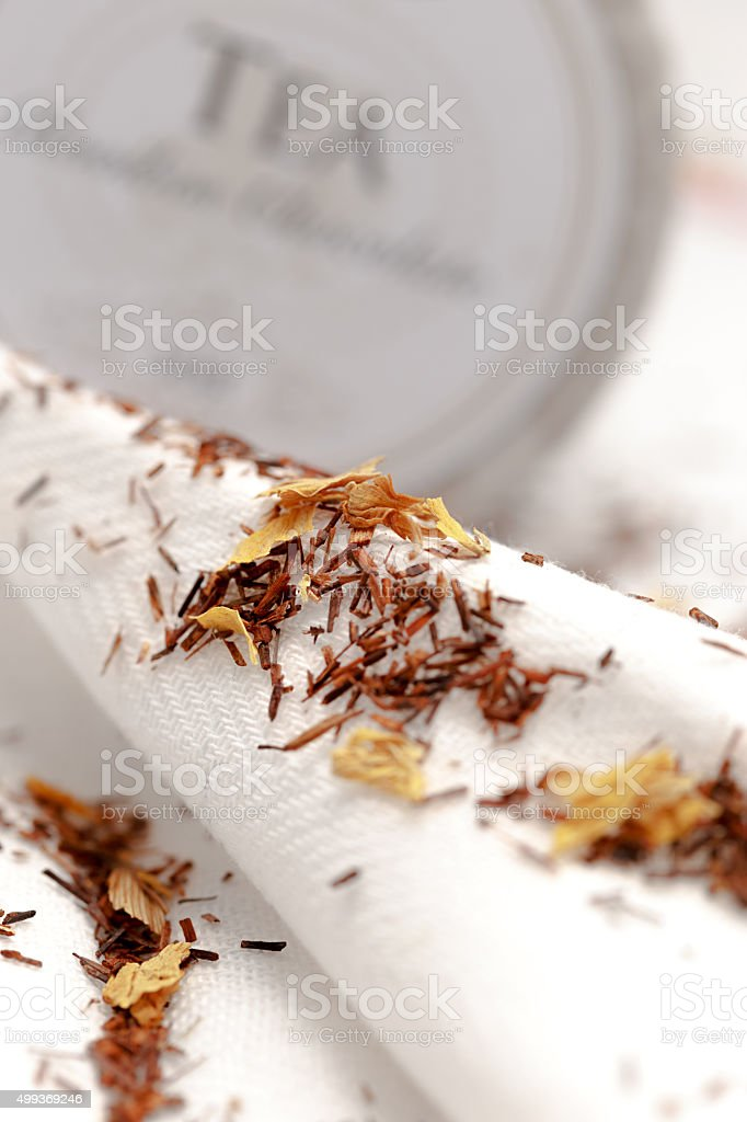 Closeup of rooibos tea stock photo