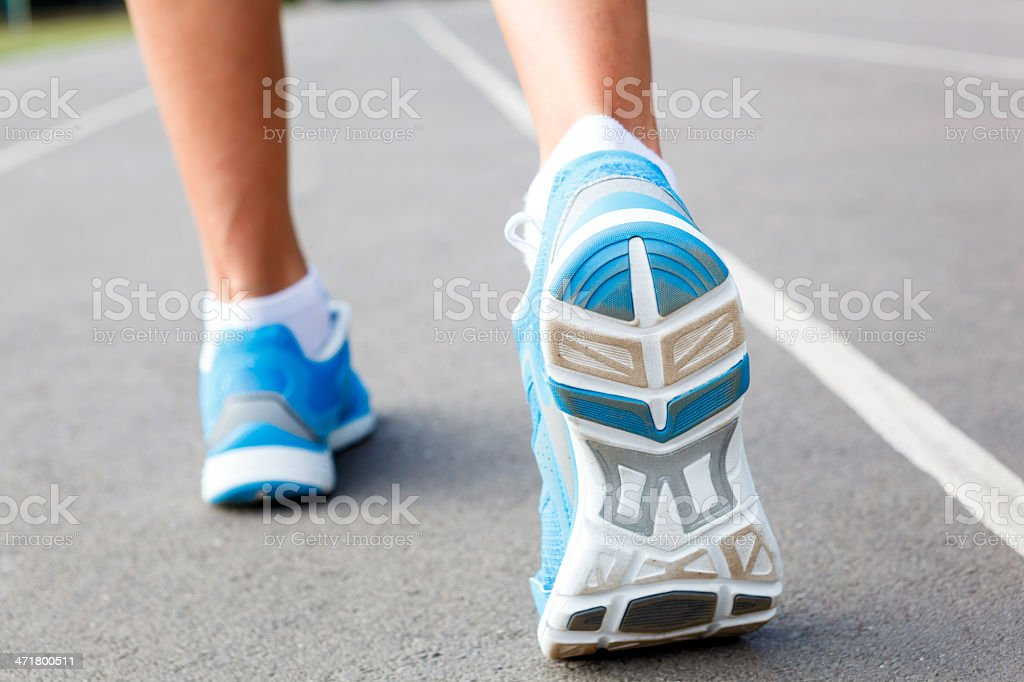 Closeup of runners shoe - running concept. royalty-free stock photo